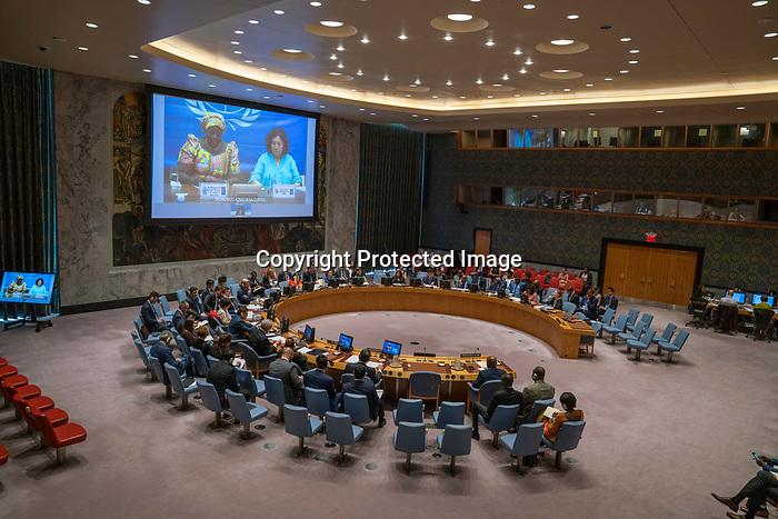 Security Council Considers Situation in Democratic Republic of Congo<br /> Ignace Gata Mavita Wa Lufuta, Permanent Representative of the Democratic Republic of the Congo to the UN, addresses the Security Council on the situation concerning the Democratic Republic of the Congo.