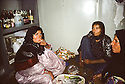 Iran 1981.Cleaning women smoking cigarettes in the hospital of Ouchnavieh