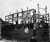 0405-D03 construction of frame building in Canada.