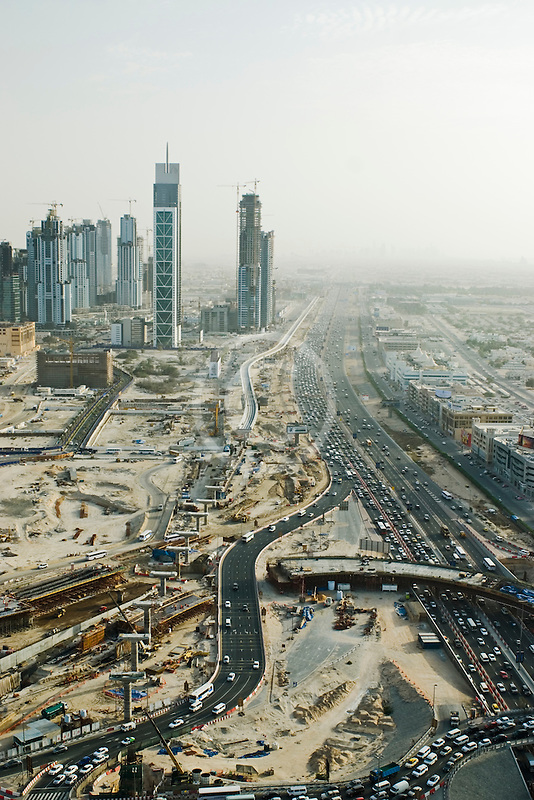 United Arab Emirates, Dubai, Burj Dubai tower and surrounding construction