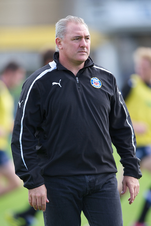 Gary Gold, Bath Rugby Head Coach, during the Aviva Premiership match between Bath Rugby and Sale Sharks at the Recreation Ground on Saturday 29th September 2012 (Photo by Rob Munro)