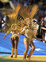 Dancers performs during the closing ceremony