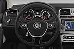 Car pictures of steering wheel view of a 2015 Volkswagen Polo Cross 5 Door Hatchback 2WD Steering Wheel