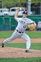 Pittsburgh Panthers pitcher Luke Novosel (41) during game against St.John's Red Storm at Jack Kaiser Stadium in Queens, New York;  May 7, 2011.  St. John's defeated Pittsburgh 7-0.  Photo By Tomasso DeRosa/Four Seam Images