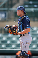 Tampa Bay Rays Brett Sullivan (72) during an instructional league game against the Baltimore Orioles on September 25, 2015 at Ed Smith Stadium in Sarasota, Florida.  (Mike Janes/Four Seam Images)