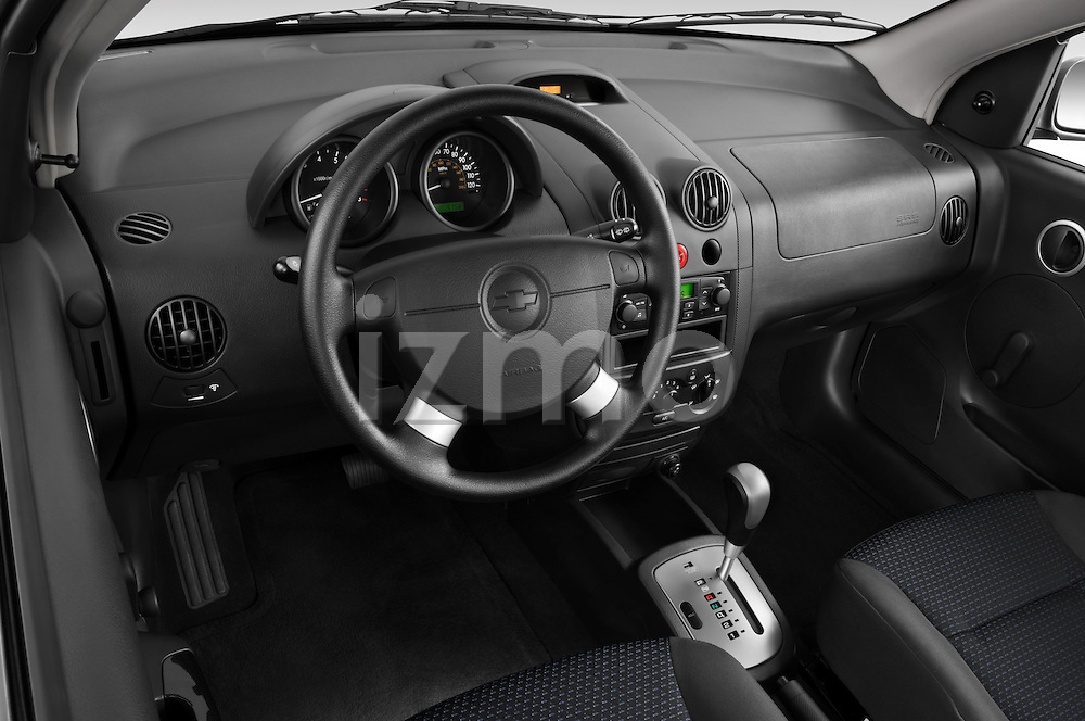 High angle dashboard view of a 2008 Chevrolet Aveo 5 LS