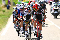 8th July 2021; Nimes, France; VAN MOER Brent (BEL) of LOTTO SOUDAL, ALAPHILIPPE Julian (FRA) of DECEUNINCK - QUICK-STEP during stage 12 of the 108th edition of the 2021 Tour de France cycling race, a stage of 159,4 kms between Saint-Paul-Trois-Chateaux and Nimes.