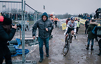 CX World Champion Wout Van Aert (BEL/Cibel-Cebon) fiishing 2nd<br /> <br /> Superprestige Zonhoven (BEL) 2018