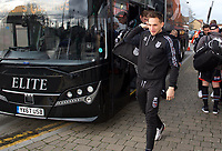 Grimsby Town players arriving for the Sky Bet League 2 match between Leyton Orient and Grimsby Town at the Matchroom Stadium, London, England on 11 January 2020. Photo by Alan  Stanford / PRiME Media Images.
