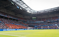 LYON, FRANCE - JULY 07: Fans and field during a game between Netherlands and USWNT at Stade de Lyon on July 07, 2019 in Lyon, France.