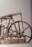 """Technology:  James Watt's """"Cabinet"""" Steam Engine.  STORY OF INVENTIONS.  Reference only."""