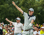 Players in action during The Match at Mission Hills with Ian Poulter vs Justin Rose,  on 27 October 2014, in Shenzhen, China. Photo by Xaume Olleros / Power Sport Images