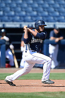 Seattle Mariners catcher Johan Quevedo (52) during an Instructional League game on October 4, 2013 at Peoria Stadium in Peoria, Arizona.  (Mike Janes/Four Seam Images)