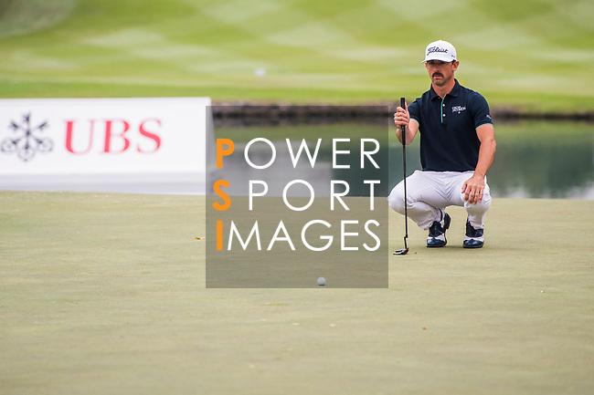 Wade Ormsby of Australia lines up a putt during the day three of UBS Hong Kong Open 2017 at the Hong Kong Golf Club on 25 November 2017, in Hong Kong, Hong Kong. Photo by Marcio Rodrigo Machado / Power Sport Images