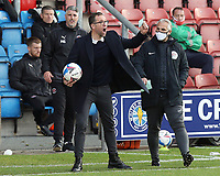 Crewe Alexandra manager David Artell remonstrates from the technical area<br /> <br /> Photographer Rich Linley/CameraSport<br /> <br /> The EFL Sky Bet League One - Crewe Alexandra v Blackpool - Saturday 17th October 2020 - Gresty Road - Crewe<br /> <br /> World Copyright © 2020 CameraSport. All rights reserved. 43 Linden Ave. Countesthorpe. Leicester. England. LE8 5PG - Tel: +44 (0) 116 277 4147 - admin@camerasport.com - www.camerasport.com