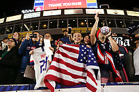 CARSON, CA - FEBRUARY 7: United States fans during a game between Mexico and USWNT at Dignity Health Sports Park on February 7, 2020 in Carson, California.