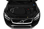Car stock 2020 Volvo XC90 R-Design 5 Door SUV engine high angle detail view