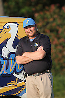 Myrtle Beach Pelicans trainer Jeff Bodenhamer standing by the Pelicans van before a game against the Frederick Keys at Tickerreturn.com Field at Pelicans Ballpark on April 25, 2012 in Myrtle Beach, South Carolina. Myrtle Beach defeated Frederick by the score of 3-1. (Robert Gurganus/Four Seam Images)