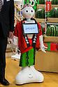 Robot Pepper working Tokyo store
