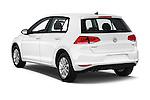 Car pictures of rear three quarter view of 2017 Volkswagen Golf S 5 Door Hatchback Angular Rear