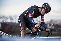 Toon Aerts (BEL/Baloise-Trek Lions) <br /> <br /> Elite Men's Race<br /> Belgian National CX Championships<br /> Meulebeke 2021<br /> <br /> ©kramon