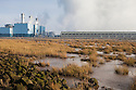 Coal-fired power station next to the Humber Estuary, Kingston upon Hull, East Yorkshire, England, UK.