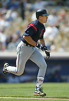 Travis Fryman of the Cleveland Indians runs the bases during a 2002 MLB season game against the Los Angeles Dodgers at Dodger Stadium, in Los Angeles, California. (Larry Goren/Four Seam Images)