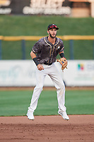 Quad Cities River Bandits third baseman David Hensley (15) during a game against the West Michigan Whitecaps on July 22, 2018 at Modern Woodmen Park in Davenport, Iowa.  West Michigan defeated Quad Cities 6-4.  (Mike Janes/Four Seam Images)