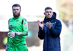 St Johnstone v Rangers…..23.02.20   McDiarmid Park   SPFL<br />Callum Hendry applauds the fans at full time as he walks off with Zander Clark<br />Picture by Graeme Hart.<br />Copyright Perthshire Picture Agency<br />Tel: 01738 623350  Mobile: 07990 594431
