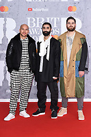 Rudimental<br /> arriving for the BRIT Awards 2019 at the O2 Arena, London<br /> <br /> ©Ash Knotek  D3482  20/02/2019<br /> <br /> *images for editorial use only*