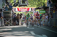 foto-finish for Alexander Kristoff (NOR/Katusha) & Peter Sagan (SVK/Tinkoff). Sagan takes his 3rd victory in this Tour.<br /> <br /> st16: Morain-en-Montagne to Bern (SUI) / 209km<br /> 103rd Tour de France 2016