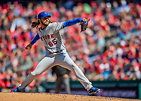 5 April 2018: New York Mets pitcher Robert Gsellman on the mound against the Washington Nationals during the Nationals' Home Opener at Nationals Park in Washington, DC. The Mets defeated the Nationals 8-2 in the first game of their 3-game series. Mandatory Credit: Ed Wolfstein Photo *** RAW (NEF) Image File Available ***