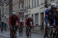 Team Cofidis riders  in Peloton.   <br /> <br /> 78th Euro Metropole Tour 2018<br /> La Louvière – Tournai (BEL): 206km