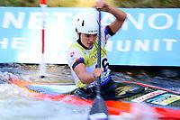 5th September 2021; Parc Olimpic del Segre, La Seu D'Urgell ICF Slalom World Cup, Women's Canoe Final;  Monika Skachova (SVK)