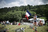 young flagged fan<br /> <br /> Stage 18 (ITT) - Sallanches › Megève (17km)<br /> 103rd Tour de France 2016