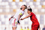 Seyed Ashkan Dejagah of Iran (L) fights for the ball with Ha Duc Chinh of Vietnam (R) during the AFC Asian Cup UAE 2019 Group D match between Vietnam (VIE) and I.R. Iran (IRN) at Al Nahyan Stadium on 12 January 2019 in Abu Dhabi, United Arab Emirates. Photo by Marcio Rodrigo Machado / Power Sport Images
