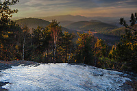 View from the summit of Rock Pond Mt in the Pharoah Lake Wilderness Area in the Adirondack Mountains of New York State