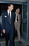 GIANNI AGNELLI CON IL FIGLIO EDOARDO<br /> CONCERTO FRANK SINATRA - PALEUR ROMA 1987