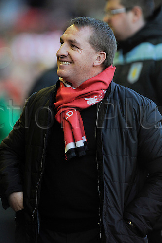 15.12.2012. Liverpool, England.     Brendan Rogers Manager of Liverpoolduring the Premier League game between Liverpool and Aston Villa from Anfield,Liverpool