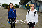 Ready for their Irish Paper 1 Leaving Cert exam in Mercy Mounthawk on Monday, l to r: Keela Hughes and Nicola Moriarty