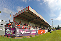 General view of the main stand during Arsenal Ladies vs Birmingham City Ladies at Meadow Park