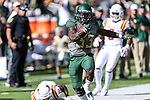 Baylor Bears running back JaMycal Hasty (33) in action during the game between the Iowa State Cyclones and the Baylor Bears at the McLane Stadium in Waco, Texas.