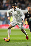 Alvaro Morata of Real Madrid is followed by Guilherme dos Santos Torres of RC Deportivo La Coruna during the La Liga match between Real Madrid and RC Deportivo La Coruna at the Santiago Bernabeu Stadium on 10 December 2016 in Madrid, Spain. Photo by Diego Gonzalez Souto / Power Sport Images