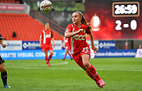 Davinia Vanmechelen (25) of Standard pictured during a female soccer game between Standard Femina de Liege and RSC Anderlecht on the 8th matchday in play off 1 of the 2020 - 2021 season of Belgian Scooore Womens Super League , tuesday 18 th of May 2021  in Angleur , Belgium . PHOTO SPORTPIX.BE | SPP | DAVID CATRY