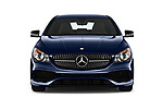 Car photography straight front view of a 2018 Mercedes Benz CLA-Class CLA250 4 Door Sedan Front View