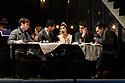 "London, UK. 24.11.2018. English National Opera present their fourth revival of Jonathan Miller's production of Puccini's ""La Boheme"", in which Natalya Romaniw makes her ENO debut. Cast is: Natalya Romaniw (Mimi), Jonathan Tetelman (Rodolfo), Nicholas Lester (Marcello), Simon Butteriss (Benoit/Alcindoro), Nadine Benjamin (Musetta), David Soar (Colline), Bozidar Smiljanic (Schaunard). Picture shows: Nicholas Lester (Marcello), Jonathan Tetelman (Rodolfo), Natalya Romaniw (Mimi), Bozidar Smiljanic (Schaunard), David Soar (Colline). Photograph © Jane Hobson."