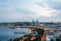 6th June 2021; F1 Grand Prix of Azerbaijan, Race Day;  Baku circuit  during the Formula 1 Azerbaijan Grand Prix 2021 at the Baku City Circuit