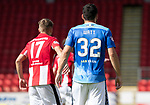 St Johnstone v East Fife…14.07.18…  McDiarmid Park    League Cup<br />The back of Tony Watt wearing the new home kit for 2018-19<br />Picture by Graeme Hart. <br />Copyright Perthshire Picture Agency<br />Tel: 01738 623350  Mobile: 07990 594431