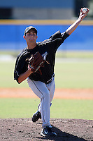 Toronto Blue Jays minor league pitcher Zak Adams (70) vs. the Philadelphia Phillies in an Instructional League game at Englebert Minor League Complex in Dunedin, Florida;  October 7, 2010.  Photo By Mike Janes/Four Seam Images