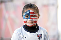 San Diego, CA - Sunday January 21, 2018: fan prior to an international friendly between the women's national teams of the United States (USA) and Denmark (DEN) at SDCCU Stadium.